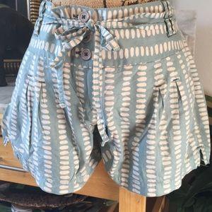 Anthropologie ETT Trendy New Style Belted Shorts 6